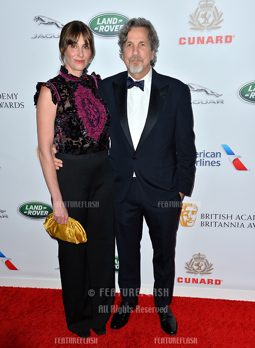 BEVERLY HILLS, CA. October 26, 2018: Peter Farrelly &amp; Melinda Kocsis at the 2018 British Academy Britannia Awards at the Beverly Hilton Hotel.<br /> Picture: Paul Smith/Featureflash