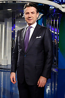 Giuseppe Conte<br /> Rome January 8th 2019. The Italian Prime Minister appears as a guest on the tv show Porta a Porta<br /> Foto Samantha Zucchi Insidefoto