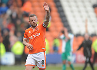 Blackpool's Jay Spearing<br /> <br /> Photographer Kevin Barnes/CameraSport<br /> <br /> The EFL Sky Bet League One - Blackpool v Plymouth Argyle - Saturday 30th March 2019 - Bloomfield Road - Blackpool<br /> <br /> World Copyright © 2019 CameraSport. All rights reserved. 43 Linden Ave. Countesthorpe. Leicester. England. LE8 5PG - Tel: +44 (0) 116 277 4147 - admin@camerasport.com - www.camerasport.com