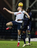 Preston North End's Jayden Stockley  competing with Derby County's Fikayo Tomori  <br /> <br /> Photographer Andrew Kearns/CameraSport<br /> <br /> The EFL Sky Bet Championship - Preston North End v Derby County - Friday 1st February 2019 - Deepdale Stadium - Preston<br /> <br /> World Copyright © 2019 CameraSport. All rights reserved. 43 Linden Ave. Countesthorpe. Leicester. England. LE8 5PG - Tel: +44 (0) 116 277 4147 - admin@camerasport.com - www.camerasport.com