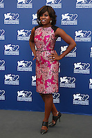 Edwina Findley attends a photocall for the movie 'Free In Deed' during the 72nd Venice Film Festival at the Palazzo Del Cinema in Venice, Italy, September 11, 2015.<br /> UPDATE IMAGES PRESS/Stephen Richie
