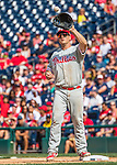 11 September 2016: Philadelphia Phillies first baseman Tommy Joseph in action against the Washington Nationals at Nationals Park in Washington, DC. The Nationals edged out the Phillies 3-2 to take the rubber match of their 3-game series. Mandatory Credit: Ed Wolfstein Photo *** RAW (NEF) Image File Available ***