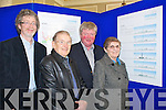 DRAWINGS: Cyril O'Neill, Architect HKR, Betty Heilbron, Killarney, Risteard O'Lionaird, BL Beara and Derek Heilbron, Killarney looking at proposed drawings for the commercial development in the Malton Hotel.   Copyright Kerry's Eye 2008