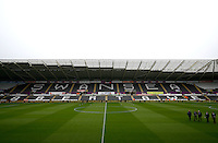 A general view of the stadium before the Barclays Premier League match between Swansea City and Liverpool played at the Liberty Stadium, Swansea on 1st May 2016