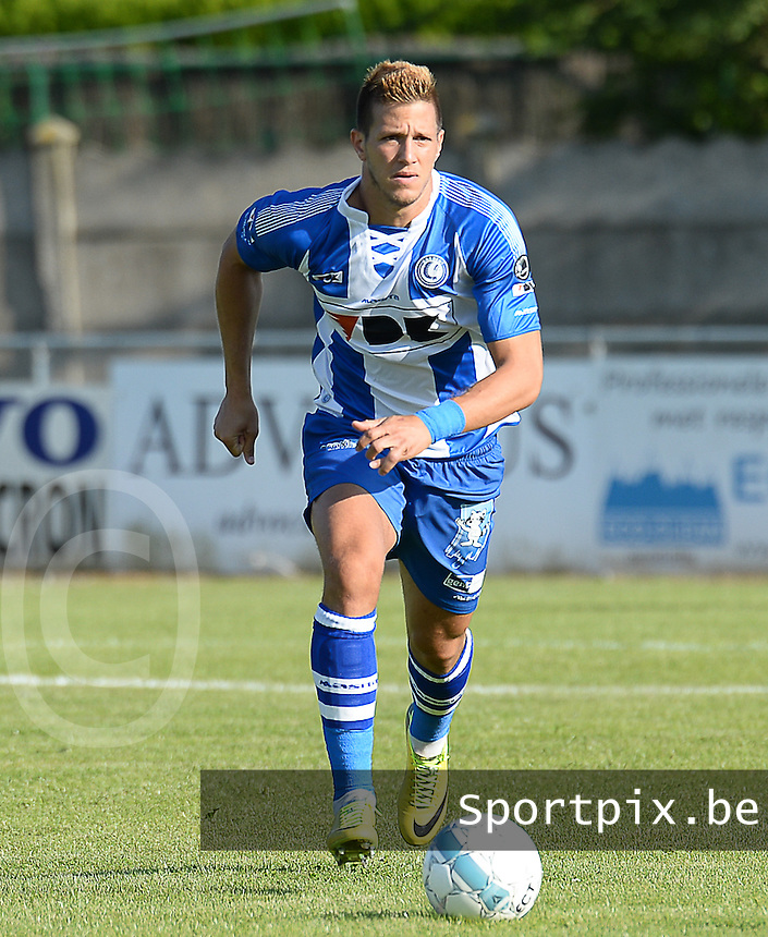 20140626 - LAUWE, BELGIUM : Gent Rami Gershon pictured during  a friendly match between FC Gullegem and Belgian first division soccer team KAA Gent, the second match for KAA Gent of the preparations for the 2014-2015 season, Tuesday 24 June 2014 in Lauwe. PHOTO DAVID CATRY