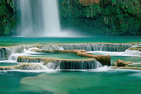 Travertine terraces and Havasu Falls <br />