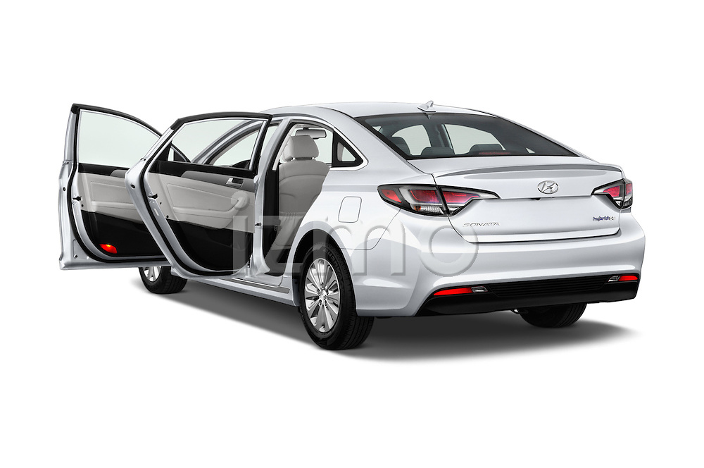 Car images of 2017 Hyundai Sonata-Hybrid Hybrid 4 Door Sedan Doors