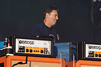 Pictured: A Stereophonics band member. Saturday 13 July 2019<br /> Re: Stereophonics live concert at the Singleton Park in Swansea, Wales, UK.