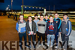 l-r  Micheal Kirby, Eddie Kelly, Donal Hunt, Fergal Wall, Denis Moriarty, Eoin Buckley, James White and Eddie Brown from St Michaels College Listowel  enjoying their Night at the Dogs at the Kingdom Greyhound Stadium on Friday