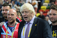 Friday 12th September 2014<br /> Picture: Boris Johnson, Mayor of London<br /> RE:  Boris Johnson,  Mayor of London visits the Invictus Games at Queen Elizabeth Olympic Park, London, United Kingdom