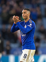 Youri Tielemans of Leicester City at full time during the Premier League match between Leicester City and Newcastle United at the King Power Stadium, Leicester, England on 29 September 2019. Photo by Andy Rowland.