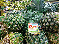Dole pineapples are seen in a supermarket in New York on Wednesday, April 26, 2017. Dole Food Co., owned by 94 year-old David H. Murdock, has filed for an Initial Public Offering (IPO) (© Richard B. Levine)