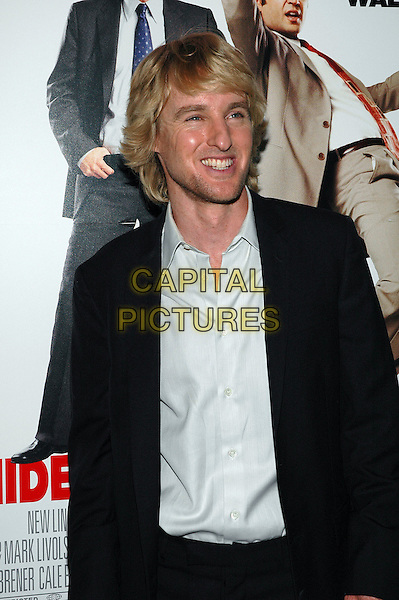 "OWEN WILSON.The premiere of the new film, ""The Wedding Crashers"", at the Ziegfeld Theater in Manhattan, New York, New York..July 13th, 2005.Photo Credit: Patti Ouderkirk/AdMedia.half length black suit jacket stubble.www.capitalpictures.com.sales@capitalpictures.com.© Capital Pictures."