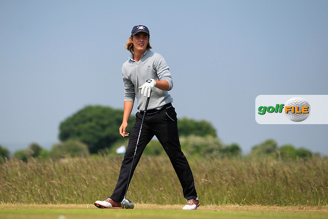 Noel Anderson (RSA) on the 2nd tee during Round 2 of the East of Ireland Amateur Open Championship sponsored by City North Hotel at Co. Louth Golf club in Baltray on Sunday 5th June 2016.<br /> Photo by: Golffile | Thos Caffrey