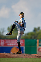 West Virginia Black Bears pitcher Braxton Ashcraft (31) during a NY-Penn League game against the Batavia Muckdogs on June 26, 2019 at Dwyer Stadium in Batavia, New York.  Batavia defeated West Virginia 4-2.  (Mike Janes/Four Seam Images)