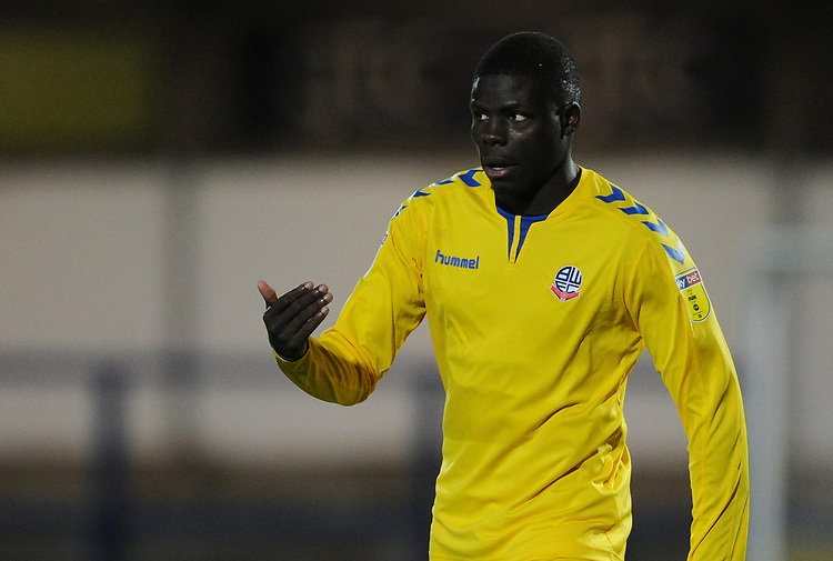 Bolton Wanderers' Yoan Zouma<br /> <br /> Photographer Kevin Barnes/CameraSport<br /> <br /> EFL Leasing.com Trophy - Northern Section - Group F - Rochdale v Bolton Wanderers - Tuesday 1st October 2019  - University of Bolton Stadium - Bolton<br />  <br /> World Copyright © 2018 CameraSport. All rights reserved. 43 Linden Ave. Countesthorpe. Leicester. England. LE8 5PG - Tel: +44 (0) 116 277 4147 - admin@camerasport.com - www.camerasport.com