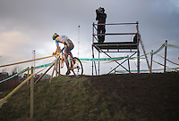Tom Meeusen (BEL) soloing to the win<br /> <br /> 2014 Noordzeecross<br /> Elite Men
