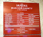 Lobby Cast Board during the Pre-Opening Night Curtain Call for 'The Bridges of Madison County' with special guest Author Robert James Waller at The Gerald Schoenfeld Theatre on February 19, 2014 in New York City.