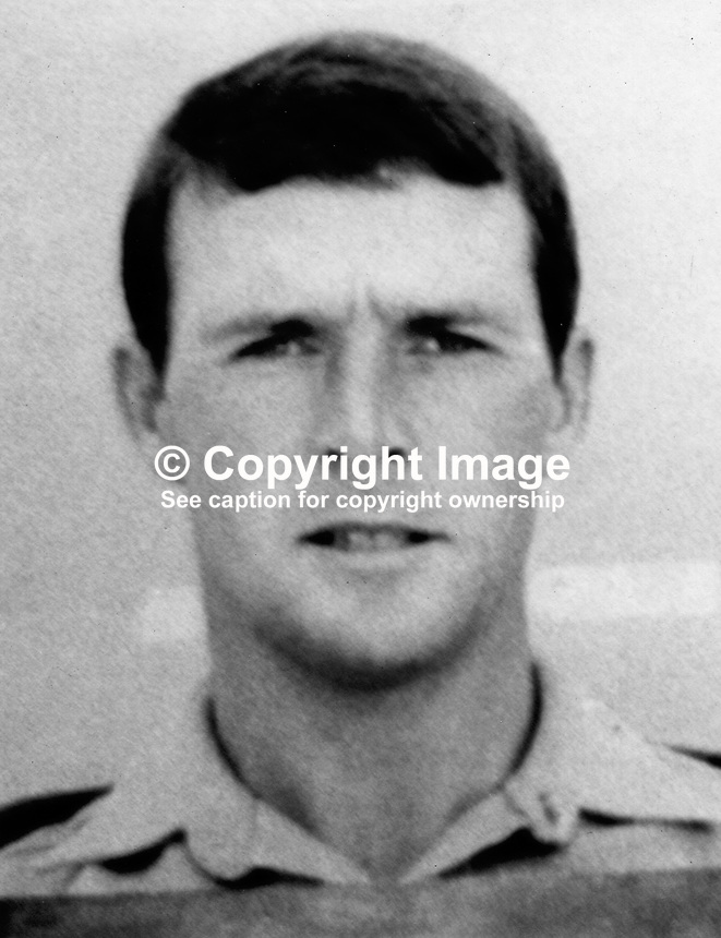 Sergeant Ian Harris, 26 years, married, 1 son, Devon &amp; Dorset Regiment, who was of two soldiers killed in a Provisional IRA landline explosion near the Co Armagh border with the Rep of Ireland on 10th February 1972. 197202100833<br /> <br /> Copyright Image from Victor Patterson, 54 Dorchester Park, Belfast, UK, BT9 6RJ<br /> <br /> t1: +44 28 9066 1296 (from Rep of Ireland 048 90661296)<br /> t2: +44 28 9002 2446 (from Rep of Ireland 048 90022446)<br /> m: +44 7802 353836<br /> <br /> e1: victorpatterson@me.com<br /> e2: victorpatterson@gmail.com<br /> <br /> The use of my copyright images is subject to my Terms &amp; Conditions.<br /> <br /> It is IMPORTANT that you familiarise yourself with them. They are available on my website at www.victorpatterson.com.<br /> <br /> None of my copyright images may be used on a website unless they are visibly watermarked, i.e. &copy; Victor Patterson within the body of the visible image. Metadata denoting my copyright must NOT be deleted. Images used on a website must not exceed 300 kb. Web use is extra at currently recommended NUJ rates.
