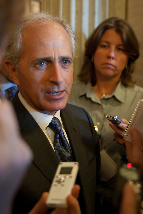 WASHINGTON, DC - May 4, 2010: Member of the Senate Banking Committee, Sen. Bob Corker (R-Tenn.), speaks about the pending financial reform legislation. (Photo by Ryan Kelly/Congressional Quarterly)