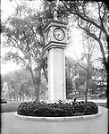 Frederick Stone negative. Clock on Green, 1915, Waterbury, CT.
