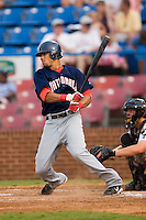 Potomac shortstop Ian Desmond (35) follows through on his swing versus Winston-Salem at Ernie Shore Field in Winston-Salem, NC, Thursday, August 2, 2007.