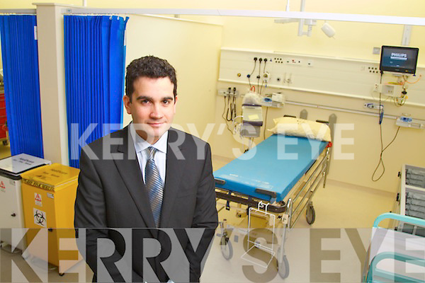 Jason Carty (Consultant in Emergency Medicine) pictured at the opening of the new Emergency Department in Kerry General Hospital on Saturday..