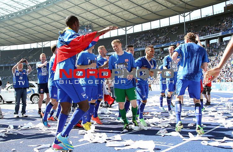 19.05.2013, Olympiastadion, Berlin,<br /> GER, 2.FBL, Hertha BSC Berlin, Energie Cottbus<br /> im Bild Freudentanz<br /> <br /> <br /> <br /> Foto &copy; nph / Schulz