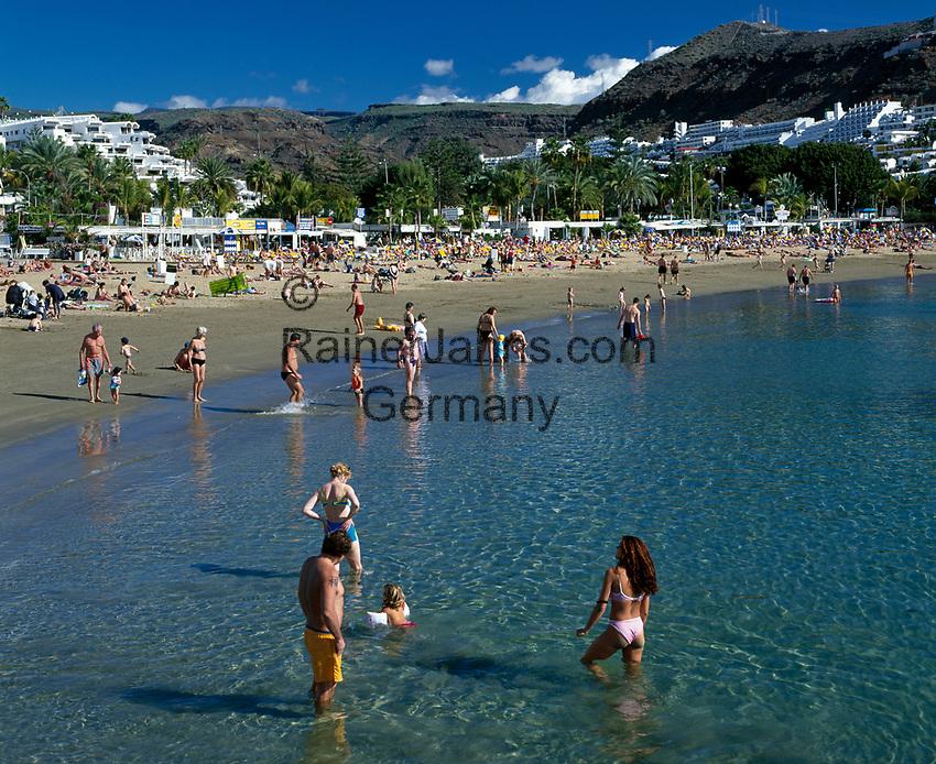Spanien, Kanarische Inseln, Gran Canaria, Puerto Rico: Strand | Spain, Canary Island, Gran Canaria, Puerto Rico: beach