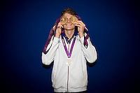Yannick Agnel (fra).London 04/08/2012 .London 2012 Olympic games  - French House - Olimpiadi Londra 2012 - Casa Francia - I medagliati.Foto JB Autissier / Panoramic / Insidefoto.ITALY ONLY..