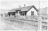 View of Sapinero Depot.<br /> D&amp;RGW  Sapinero Branch, CO  Taken by Maxwell, John W. - 6/26/1951