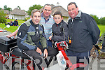 Honda 50 fans Denis Furlong with Joe, Adam and Tom Hurley, Killarney, pictured at the start of the Honda 50 challenge in aid of The South Kerry Parkinsons society atThe Old Killarney Inn, Aghadoe on Sunday morning.