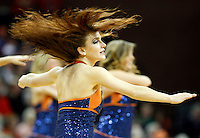 Virginia dancers perform during the game Tuesday in Charlottesville, VA. Virginia defeated Virginia Tech73-55.