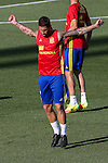 Spanish footbal Sergio Ramos team durign the first training of the concentration of Spanish football team at Ciudad del Futbol de Las Rozas before the qualifying for the Russia world cup in 2017 August 29, 2016. (ALTERPHOTOS/Rodrigo Jimenez)