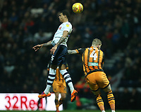 Preston North End's Lukas Nmecha and Hull City's Jordy de Wijs<br /> <br /> Photographer Stephen White/CameraSport<br /> <br /> The EFL Sky Bet Championship - Preston North End v Hull City - Wednesday 26th December 2018 - Deepdale Stadium - Preston<br /> <br /> World Copyright &copy; 2018 CameraSport. All rights reserved. 43 Linden Ave. Countesthorpe. Leicester. England. LE8 5PG - Tel: +44 (0) 116 277 4147 - admin@camerasport.com - www.camerasport.com