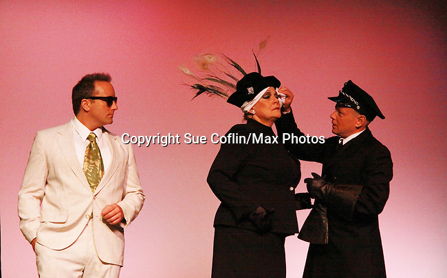 """Eric Parker and Roy Brown star with One Life To Live and Guiding Light Kim Zimmer stars as """"Norma Desmond"""" in Sunset Boulevard for several weeks in August at the Barn Theatre in Augusta, Michigan. The photos are from the dress rehearsal. (Photo by Sue Coflin/Max Photos)"""