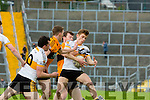 Denis O'Neill Dr Crokes gathers the loose ball against Stacks Ciaran O'Connell Austin Stacks during their County Championship clash in Fitzgerald Stadium on sunday