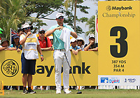 Bernd Wiesberger (AUT) on the 3rd tee during Round 1 of the Maybank Championship at the Saujana Golf and Country Club in Kuala Lumpur on Thursday 1st February 2018.<br /> Picture:  Thos Caffrey / www.golffile.ie<br /> <br /> All photo usage must carry mandatory copyright credit (© Golffile | Thos Caffrey)