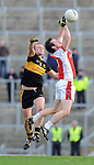 22-01-12:  Brian McMahon, Dr Crokes, battles  for possession with Donal O'Sullivan,  Rathmore in the East Kerry O'Donoghue Cup final  in Fitzgerald Stadium, Killarney on Sunday. Picture: Eamonn Keogh ( MacMonagle, Killarney)