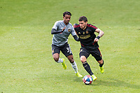 Los Angeles, CA - February 10, 2019: Atlanta United FC and LAFC played to a 2-2 draw in a Major League Soccer (MLS) preseason match at  Banc of California Stadium.