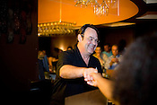 September 16, 2009. Raleigh, North Carolina..Actor Dan Aykroyd visits local bars to promote his Crystal Head Vodka.