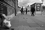 Toxteth Riots Liverpool 1981. Morning after night of riots.