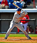 4 March 2009: New York Mets' outfielder Daniel Murphy in action during a Spring Training game against the Washington Nationals at Space Coast Stadium in Viera, Florida. The Nationals rallied to defeat the Mets 6-4 . Mandatory Photo Credit: Ed Wolfstein Photo