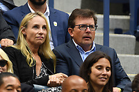 FLUSHING NY- SEPTEMBER 09: Tracy Pollan and  Michael J. Fox are sighted watching Madison Keys Vs. Sloane Stephens Stephens defeats Keys in straight sets 6-3, 6-0 during the Womens finals on Arthur Ashe Stadium at the US Open in the USTA Billie Jean King National Tennis Center on September 9, 2017 in Flushing Queens. <br /> CAP/MPI04<br /> &copy;MPI04/Capital Pictures