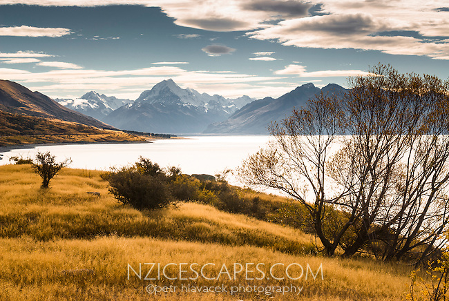 Mt. Cook and Lake Pukaki, Mackenzie Country, New Zealand