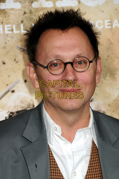 """MICHAEL EMERSON.HBO's """"The Pacific"""" Mini-Series Premiere held at Grauman's Chinese Theatre, Hollywood, California, USA..February 24th, 2010.headshot portrait white glasses grey gray .CAP/ADM/BP.©Byron Purvis/AdMedia/Capital Pictures."""