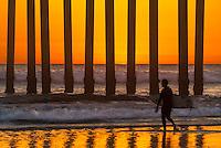 Sunset Surf Session at Huntington Beach