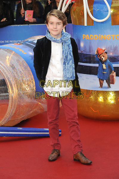 LONDON, ENGLAND - NOVEMBER 23: Samuel Joslin attends the World Premiere of Paddington at Odeon Leicester Square on November 23, 2014 in London, England.<br /> CAP/BEL<br /> &copy;Tom Belcher/Capital Pictures