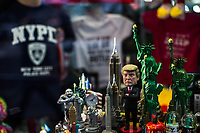 NEW YORK, NY - APRIL 4: A toy of US president Donald Trump is seen on a souvenir store near Trump Tower Where United States First Lady Melania Trump is living on April 4, 2017 in Manhattan, New York. Police Commissioner James O'Neill told lawmakers in February it costs the NYPD between $127,000 and $146,000 a day to protect the first lady and her 11-year-old son Barron. When the president is in town, the city pays more than $308,000.  Photo by VIEWpress/Eduardo MunozAlvarez