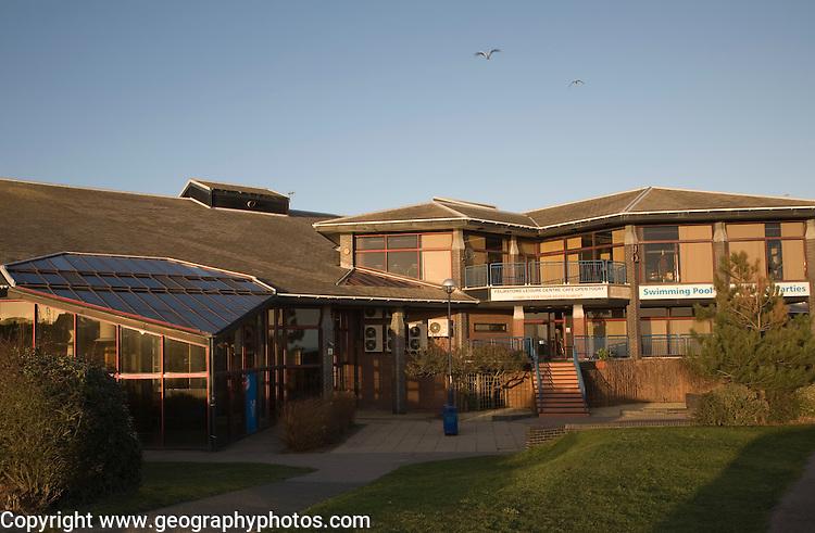 Leisure centre building, Felixstowe, Suffolk, England